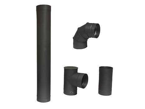 Purline 3700046514253 - Kit de tubos para instalación de estufas de leña o carbón 13 cm