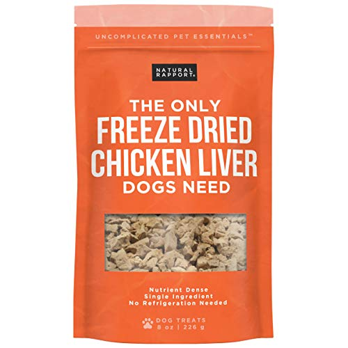 Natural Rapport Dog Treats for Small and Large Dogs Freeze-Dried Dog Training Treats, Grain-Free Chicken Bites, Snacks, and Chews with USDA-Inspected Meat (8 oz.)