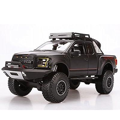 Ford 2020 F-150 Raptor Pickup Truck Matt Black Off Road Kings 1/24 by Maisto 32521: Toys & Games