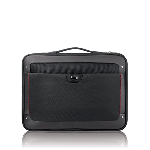 Solo Elite 17.3 Inch Laptop Slim Brief, Black - Executive Brief Bag