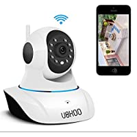 IP Camera, UOKOO 720P Wireless Security Surveillance Camera with Pan/Tilt ,P2P Audio and Night Vision use for Pet Monitor, Puppy Cam, Baby Monitor and Nanny Camera C25
