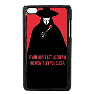 V For Vendetta Quote Typography 0 15 iPod Touch 4 Case Black Exquisite designs Phone Case TF746572