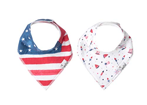 (Baby Bandana Drool Bibs for Drooling and Teething 2-Pack Fashion Bibs Gift Set