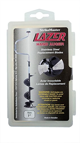 Lazer Hand Ice Auger - Replacement Blades - Stainless Steel - For Lazer Hand Auger (Black Shaft) - 7