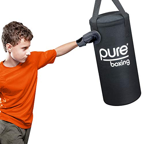 Pure Boxing Kids 25lb Canvas Heavy Bag Kit with Gloves and Jump Rope