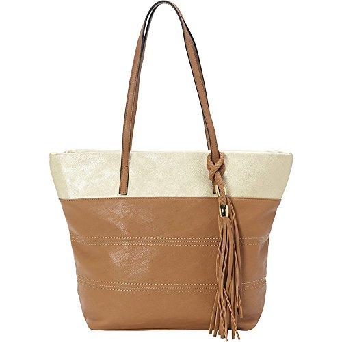 sondra-roberts-bahamas-metallic-trim-shopper-camel