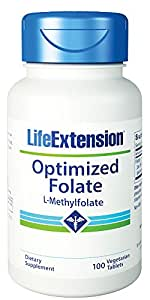 Amazon.com: Vida Extension 1000 mcg optimizado ácido fólico ...