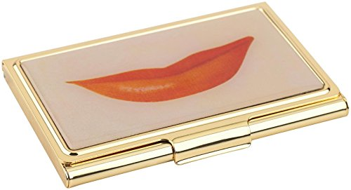 Kate Spade New York Snap Happy Business Card Holder Lips ()