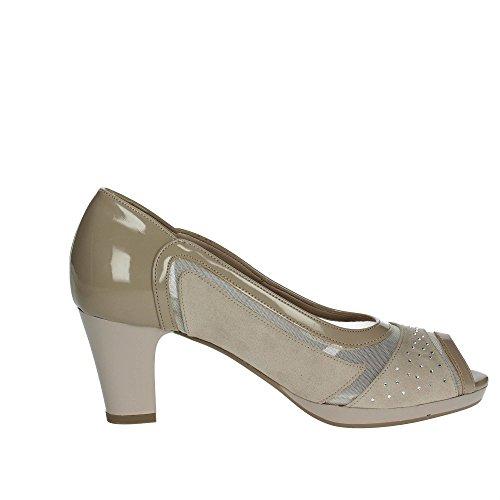 Cinzia Soft 311871 Zapatos con Punta Abierta Mujer Beige