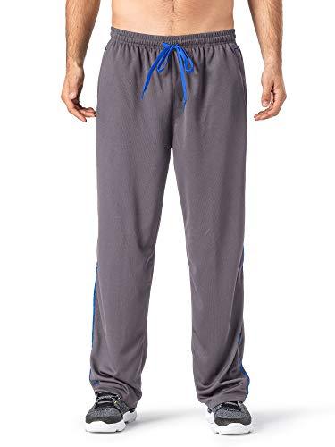 MAGCOMSEN Yoga Pants for Men Zipper Pockets Training Pants Zippers Men Running Pants with Phone Pocket Jersey Pants Men Grey