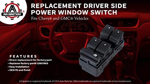 07-14 Chevy Silverado 1500 Drivers Side Left Master Window Switch OEM