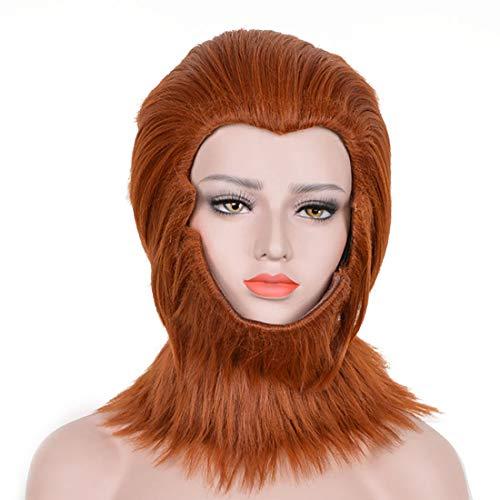 Monkey Fur - Monkey King Cosplay Wig Adult Sun Wukong Headpiece Beard Fur King of Heroes Monkey Mask Animal Costume Accessories (Monkey King)