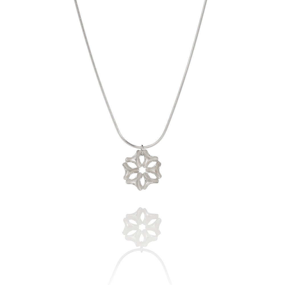 Icelandic Design Sterling Silver Necklace from the Aurum by Guðbjörg DRÍFA Collection (Small) Handcrafted in Reykjavik from Sustainable Materials