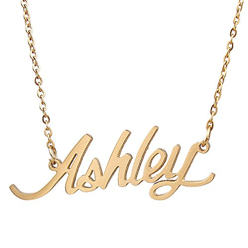 Price comparison product image AOLO Customized Personalized Cursive Ashley Carrie Name Necklace,  Ashley