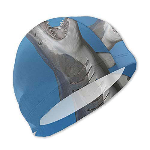 Horizon-t Tiger Sharks Kids Children Swimming Caps Swimming Hats for Water ()