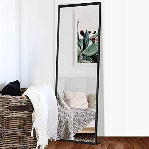 NeuType Full Length Mirror Solid Wood Frame Wall Mirror Floor Mirror