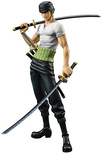 Megahouse One Piece Portrait of Pirates: Limited Edition Roronoa Zoro 10th Anniversary 1:8 Scale PVC Figure ()