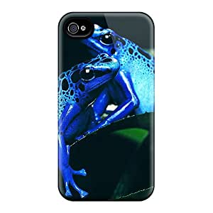 New Snap-on Lawshop Skin Case Cover Compatible With Iphone 4/4s- Blue Frogs
