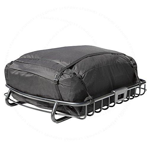 LT Sport SN#100000000781-1010-216 for GMC Top Black Roof Cargo Carrier Basket w/Storage Bag (Gmc Envoy Cargo)