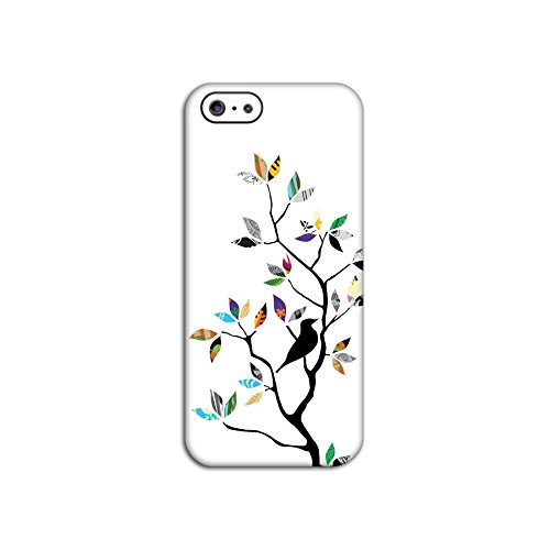 Bird In Tree (White) Deflector Back Case for Apple iPhone 5 5S