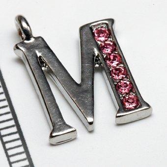 【イニシャルパーツ】 M (ピンク)の商品画像