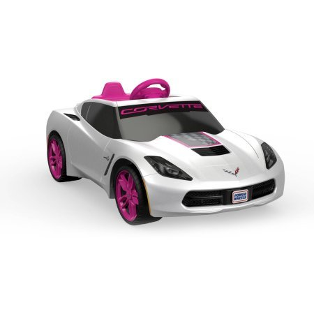 Fisher-Price Power Wheels Girls' Corvette 6V Battery-Powered Ride-On (Power Wheels Steering Wheel compare prices)