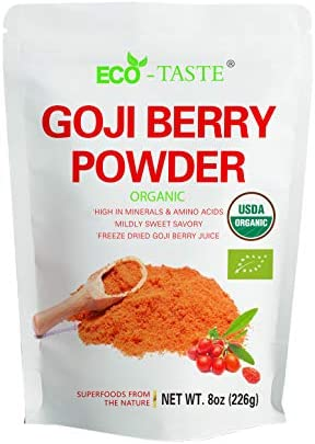 Amazon Com Organic Goji Berry Powder 16 Ounce Freeze Dried Superfood Natural Antioxidants Wolfberry Juice Powder
