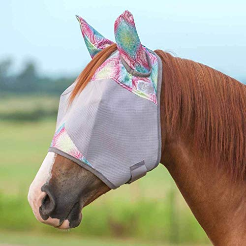 Cashel Company Patterned Crusader Fly Mask with Ears Multihenna Mini/FOAL
