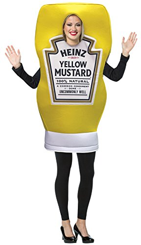 Rasta Imposta Heinz Mustard Squeeze Bottle Tunic Funny Theme Party Halloween Costume, -