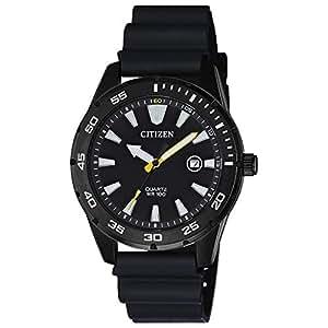 Citizen Men's Stainless Steel Japanese-Quartz Polyurethane Strap, Black, 22 Casual Watch (Model: BI1045-13E)