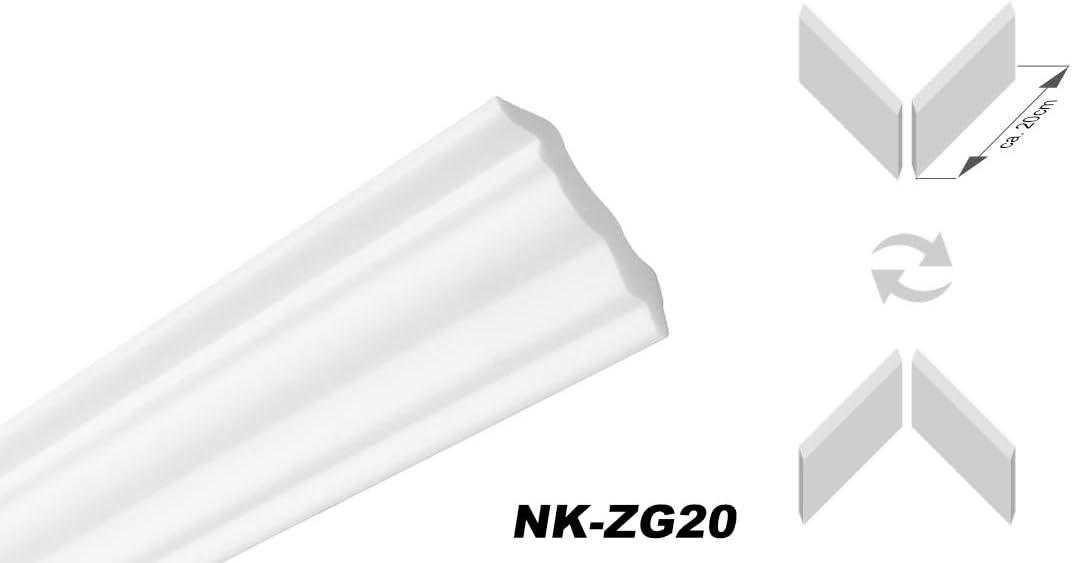 HEXIMO Deckenleisten ZG Zubeh/ör Montagekleber und Gehrungslade inkl S/äge - Gehrungslade mit S/äge Muster Vorgeschnittene Ecken Zierprofil Eckprofil Styroporprofil Winkelprofil Wandprofil