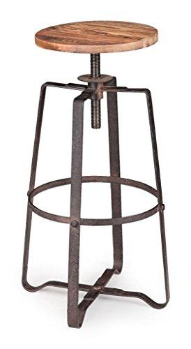 Industrial Bar Stool Chair Wood Metal In The Uae See