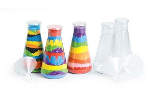 Colorations SANDBOT Super Sand Art Bottles and Funnels (Pack of 12)