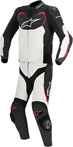 Alpinestars GP Pro 2-Piece Mens Leather Motorcycle Suit - Black/White/Red - 60