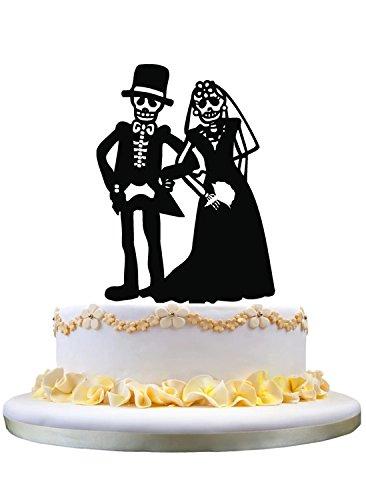 Amazon.com: zhongfei Bride and Groom Wedding Cake Toppers Funny Cake ...