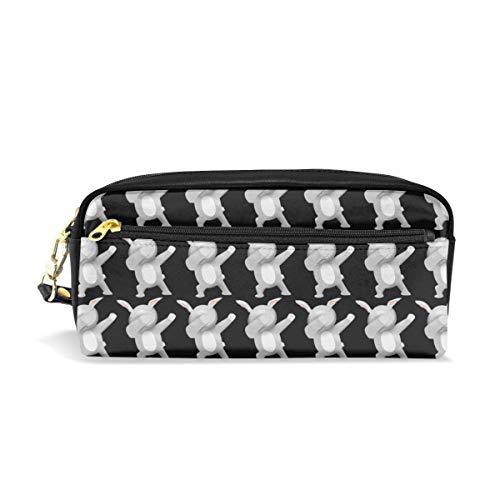 Multifunction Durable Cosmetic Bag Funny Dabbing Rabbit Cute Bunny Pencil Bag Pouch Bag Case Makeup Bag -