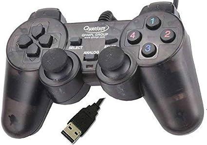 Quantum QHM7468-2V 2 0 PC Game Pad Controller (Black)