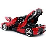 ブラーゴ 1/18 ミニカー ダイキャストカー フェラーリ ラフェラーリ レース スポーツカー Bburago Ferrari Laferrari 1:18 上質 赤 [並行輸入品]