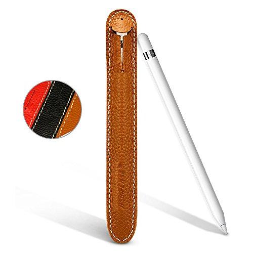Apple Pencil Case, Jisoncase Genuine Leather Slim Fit Sleeve