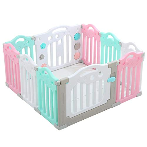 Baby Fence Infants Toddlers Care Play Playpen Safety Gate, Children Kid Playards Crawling Toys, for Activity Center Home Indoor Outdoor