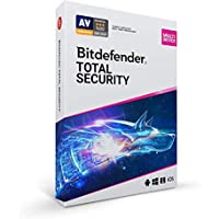 Bitdefender Total Security - 5 Devices | 1 year Subscription | PC/Mac | Activation Code by Mail