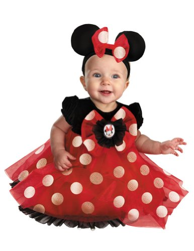 [Red Minnie Mouse Costume - Baby 6-12] (6 Character Halloween Costumes)