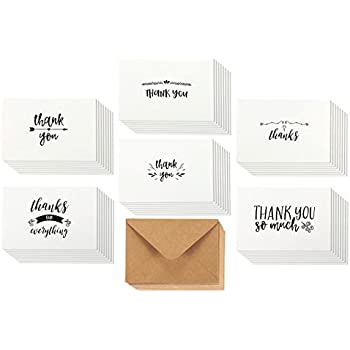 Amazon thank you cards 36 count thank you notes kraft paper thank you cards 36 count thank you notes kraft paper bulk thank you altavistaventures Choice Image