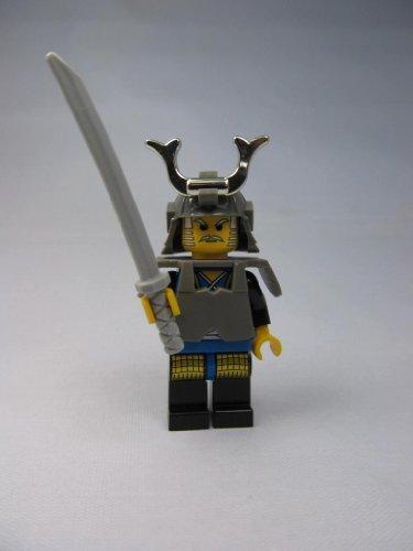LEGO Castle Theme Minifigure: Blue Shogun Ninja Warrior with Samurai Helmet, Body Armor and - Samurai Helmet Warrior