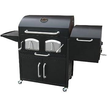 Landmann 591320 Smoky Mountain Bravo Premium Charcoal Grill with Offset Smoker Box