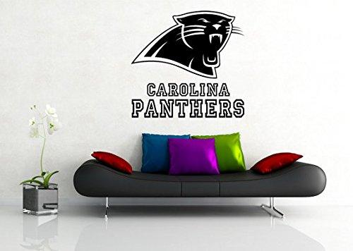 Carolina Panthers NFL Logo Sticker Vinyl Decal Wall Decor Room Garage Original Unique Art 056 Decal - Logo Panthers Wall