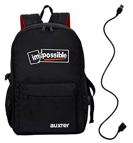 Auxter 15.6 inch 25 L Casual Backpack Laptop Backpack Office Bag Pack School Bag College Bag Business Backpack Travel Backpack with USB Charging Port (Black)