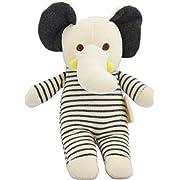 Dordor & Gorgor Organic Plush Toy, Dye Free Natural Hue, Elephant, Bunny Doll (Elephant)