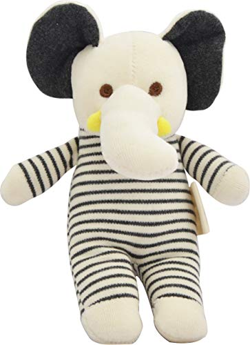 - Dordor & Gorgor Organic Plush Toy, Dye Free Natural Hue, Elephant, Bunny Doll (Elephant)