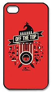 iPhone 4 4S Case, iCustomonline Off The Top Designs Case for iPhone 4 4S PC Material Black